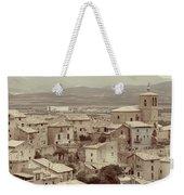 Beautiful Medieval Spanish Village In Sepia Tone Weekender Tote Bag