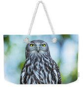 Barking Owl Weekender Tote Bag by Rob D Imagery
