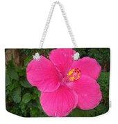 Bright Pink Hibiscus Weekender Tote Bag