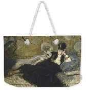 Woman With Fans  Weekender Tote Bag