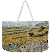 Enclosed Field With Ploughman -  Weekender Tote Bag