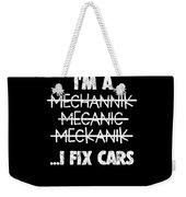Funny Mechanic Car Auto Apparel Weekender Tote Bag