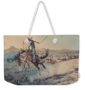 A Bucking Bronco, Edward Borein Weekender Tote Bag