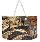 A Close Up Of A Mojave Rattlesnake Weekender Tote Bag