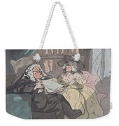 A Counselor's Opinion After He Had Retired From Practice After Thomas Rowlandson British, London 17 Weekender Tote Bag