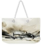 A Crippled Halifax Bomber Lands On The Ice Weekender Tote Bag