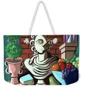 A Cubist Still Life Weekender Tote Bag by Anthony Falbo
