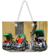 A Cyclo Driver Takes A Nap, In Hoi An, Vietnam. Weekender Tote Bag