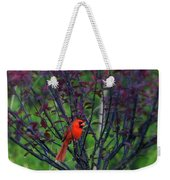 A Flash Of Red Weekender Tote Bag