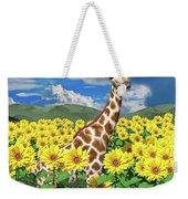 A Friendly Giraffe Hello Weekender Tote Bag