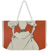 A Gaiety Girl, 1894 French Vintage Poster Weekender Tote Bag