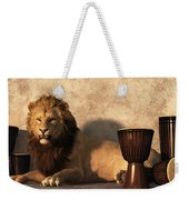 A Lion Among Drums Weekender Tote Bag