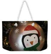 A Merry Christmas Greeting Weekender Tote Bag