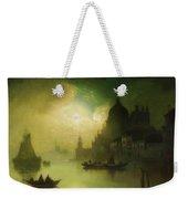 A Moonlit Night Over Venice Weekender Tote Bag