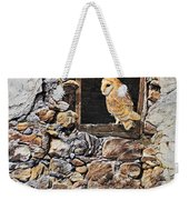 A New Home Barn Owl Weekender Tote Bag by Alan M Hunt