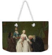 A Nobleman Kissing A Lady S Hand  Weekender Tote Bag