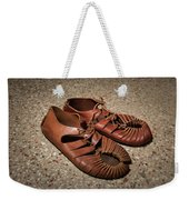 A Pair Of Roman Sandals Made Of Leather Weekender Tote Bag