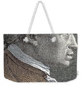 A Portrait Of Immanuel Or Emmanuel Kant Weekender Tote Bag