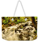A River Turns Weekender Tote Bag