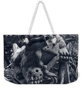 A Stone Gargoyle In The Woods Weekender Tote Bag