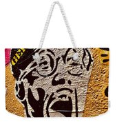 A Terrified Face On A Barcelona Wall  Weekender Tote Bag