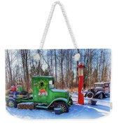 A Vintage Christmas Weekender Tote Bag by Susan Rissi Tregoning