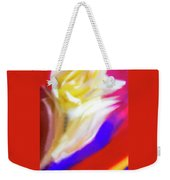 A White Rose In An Abstract Style. Weekender Tote Bag