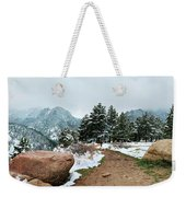 A Winter's Day In The Flatirons Weekender Tote Bag
