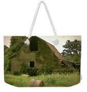 Abandoned Barn And Hay Roll 2018d Weekender Tote Bag