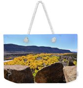 Gorgeous View Of Golden Cottonwood Trees In Canyon Weekender Tote Bag