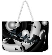 Abstract Birds On A Wire Black N White 1of3 Weekender Tote Bag