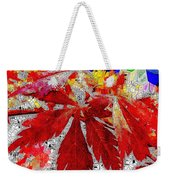 Abstract Fall Acer Stained Glass  Weekender Tote Bag
