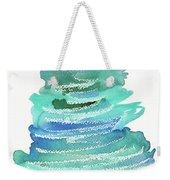 Abstract Fir Tree Christmas Watercolor Painting Weekender Tote Bag