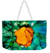 Abstract Gerbera Ink Flower Weekender Tote Bag