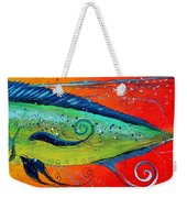 Abstract Mahi Mahi Weekender Tote Bag