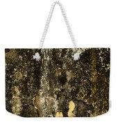 Abstract Scary Ocher Plaster Weekender Tote Bag
