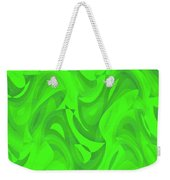 Abstract Waves Painting 0010100 Weekender Tote Bag