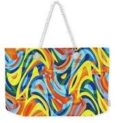 Abstract Waves Painting 007176 Weekender Tote Bag