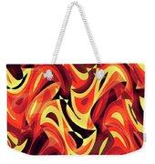Abstract Waves Painting 007185 Weekender Tote Bag