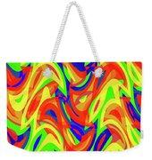 Abstract Waves Painting 007192 Weekender Tote Bag