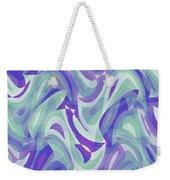 Abstract Waves Painting 007217 Weekender Tote Bag