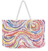 Abstraction In Winter Colors Weekender Tote Bag