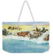Action From A Ten Thousand Mile Motor Race Weekender Tote Bag