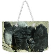 Adult Silverback Gorilla Laying Down With Anguished Expression Weekender Tote Bag