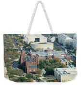 Aerial View Of Museums On The South Side Of The National Mall In Weekender Tote Bag