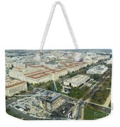 Aerial View Of The Smithsonian National Museum Of African Americ Weekender Tote Bag
