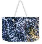 Aerial View Of Winding Mountain Road Through Forest Weekender Tote Bag
