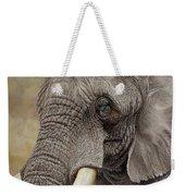 African Elephant Weekender Tote Bag by Alan M Hunt