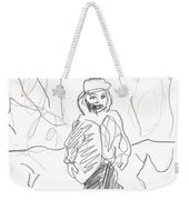 After Billy Childish Girl Pencil Drawing B2-16 Weekender Tote Bag