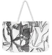 After Billy Childish Pencil Drawing B2-4 Weekender Tote Bag